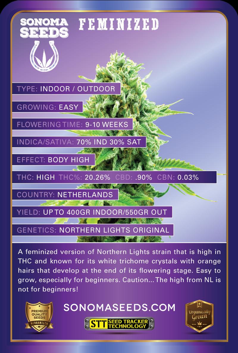 Northern Lights Indica Marijuana Seeds